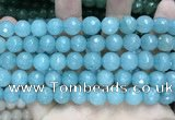CCN5781 15 inches 10mm faceted round candy jade beads
