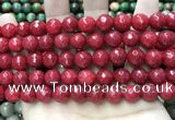 CCN5811 15 inches 10mm faceted round candy jade beads