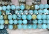 CCN5831 15 inches 10mm faceted round candy jade beads