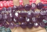 CCN5873 15 inches 15mm flat round candy jade beads Wholesale