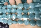 CCN5888 15 inches 15mm flat round candy jade beads Wholesale