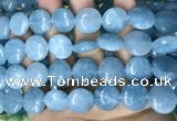 CCN5891 15 inches 15mm flat round candy jade beads Wholesale
