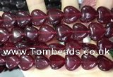 CCN5953 15 inches 14*14mm heart candy jade beads Wholesale