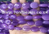 CCN5968 15 inches 13*18mm faceted oval candy jade beads