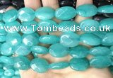 CCN5972 15 inches 13*18mm faceted oval candy jade beads