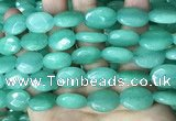 CCN5973 15 inches 13*18mm faceted oval candy jade beads