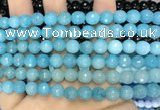 CCN6313 15.5 inches 8mm faceted round candy jade beads Wholesale