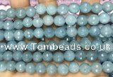 CCN6315 15.5 inches 8mm faceted round candy jade beads Wholesale