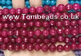 CCN6316 15.5 inches 8mm faceted round candy jade beads Wholesale