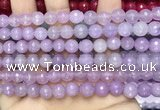 CCN6317 15.5 inches 8mm faceted round candy jade beads Wholesale