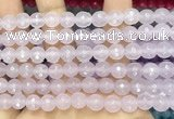 CCN6318 15.5 inches 8mm faceted round candy jade beads Wholesale