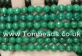 CCN6325 15.5 inches 8mm faceted round candy jade beads Wholesale