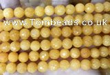 CCN6344 6mm, 8mm, 10mm, 12mm & 14mm faceted round candy jade beads