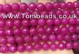 CCN6347 6mm, 8mm, 10mm, 12mm & 14mm faceted round candy jade beads