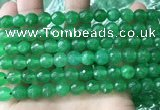 CCN6350 6mm, 8mm, 10mm, 12mm & 14mm faceted round candy jade beads