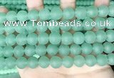 CCN6366 15.5 inches 6mm, 8mm, 10mm & 12mm round matte candy jade beads
