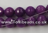 CCN779 15.5 inches 6mm faceted round candy jade beads wholesale