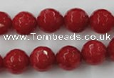 CCN790 15.5 inches 8mm faceted round candy jade beads wholesale