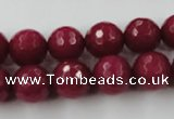 CCN808 15.5 inches 10mm faceted round candy jade beads wholesale