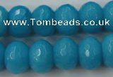 CCN938 15.5 inches 12*16mm faceted rondelle candy jade beads
