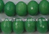 CCN950 15.5 inches 14*18mm faceted rondelle candy jade beads