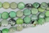 CCO31 15.5 inches 8mm flat round natural chrysotine beads
