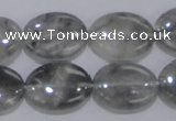 CCQ147 15.5 inches 15*20mm oval cloudy quartz beads wholesale