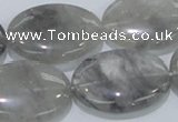 CCQ149 15.5 inches 22*30mm oval cloudy quartz beads wholesale