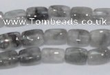 CCQ174 15.5 inches 8*12mm rectangle cloudy quartz beads wholesale