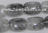 CCQ177 15.5 inches 15*20mm rectangle cloudy quartz beads wholesale