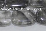 CCQ179 15.5 inches 22*30mm rectangle cloudy quartz beads wholesale