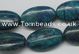 CCS167 15.5 inches 15*25mm oval dyed chrysocolla gemstone beads