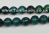 CCS403 15.5 inches 10mm round dyed chrysocolla gemstone beads