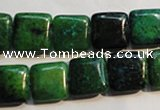 CCS658 15.5 inches 12*12mm square dyed chrysocolla gemstone beads