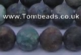 CCS765 15.5 inches 14mm round matte natural chrysocolla beads