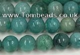 CCS873 15.5 inches 5mm round natural chrysocolla gemstone beads