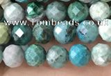 CCS881 15.5 inches 5mm faceted round natural chrysocolla beads