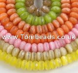 CCT05 14 inch 7*12mm faceted roundel cats eye beads Wholesale