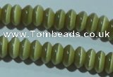 CCT234 15 inches 3*6mm rondelle cats eye beads wholesale