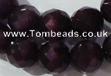 CCT397 15 inches 10mm faceted round cats eye beads wholesale