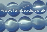 CCT493 15 inches 8mm flat round cats eye beads wholesale
