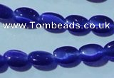 CCT614 15 inches 4*6mm oval cats eye beads wholesale