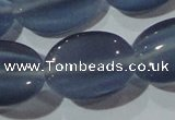 CCT751 15 inches 11*15mm oval cats eye beads wholesale