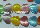CCT973 15 inches 12*12mm faceted heart cats eye beads wholesale