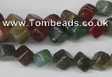 CCU107 15.5 inches 6*6mm cube Indian agate beads wholesale