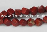 CCU108 15.5 inches 6*6mm cube red jasper beads wholesale