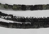 CCU11 15.5 inches 4*4mm cube ruby zoisite beads wholesale