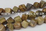 CCU111 15.5 inches 6*6mm cube silver leaf jasper beads wholesale