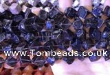 CCU401 15.5 inches 8*10mm - 14*16mm cube smoky quartz beads
