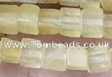 CCU450 15.5 inches 4*4mm cube yellow aventurine beads wholesale